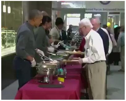obama servindo