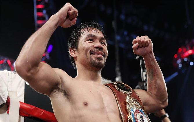 Manny Pacquiao Desafia Mayweather Para Mais Um Verdadeiro Combate De Boxe, A assessoria de imprensa de Pacquiao revelou àAFPque não existem negociações