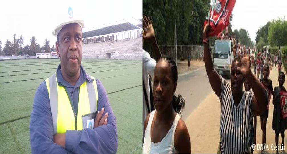 Para a Frelimo a construção de infra-estruturas como o estádio Municipal e outros na Beira, é uma forma encontrada pelo município para encobrir desvios de fundos