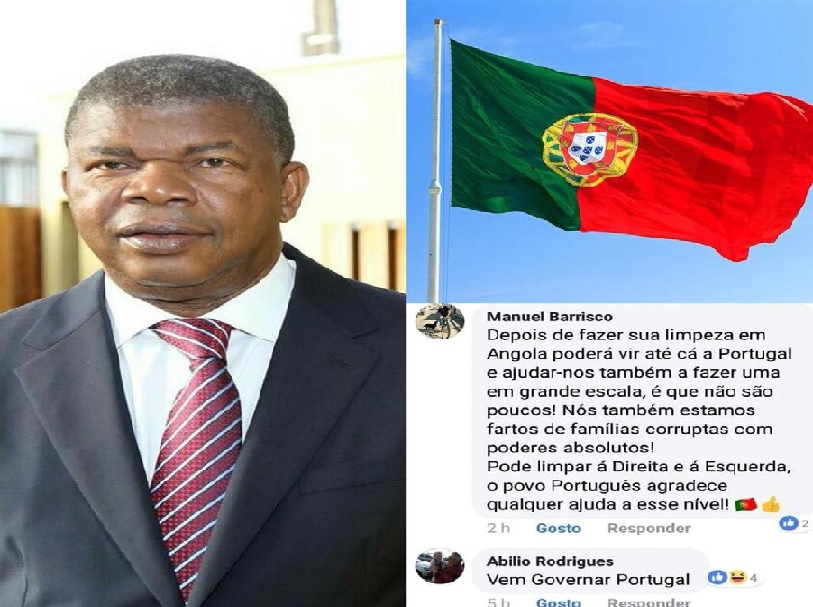 Numa publicação que tomou conta das redes sociais nesta tarde, foi visível o encanto e a satisfação que alguns cidadãos portugueses tem por João Lourenço