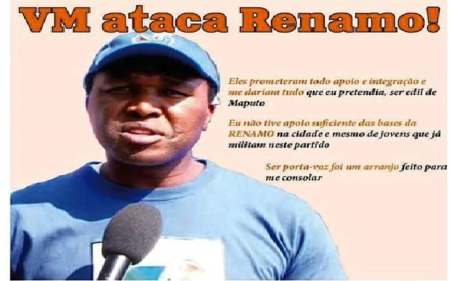 Segundo o Jornal Canal de Moçambique, Venâncio Mondlane anda agastado com o partido Renamo. Mais detalhes na edição imprensa do Canal Moz